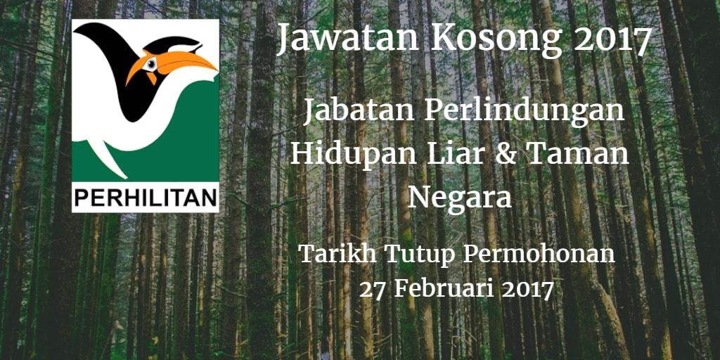 Jawatan Kosong PERHILITAN 27 Februari 2017