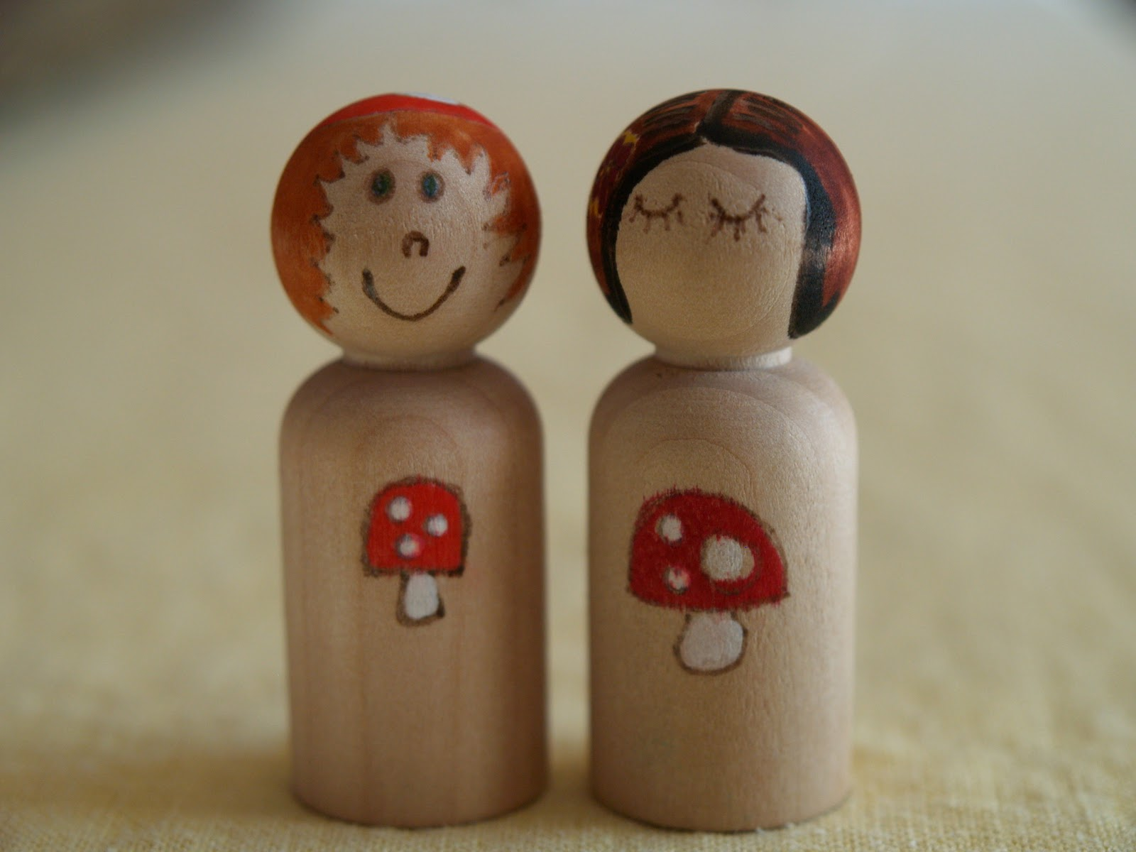 Handmade Peg Baskets : Handmade chirstmas gifts painted peg people the magic