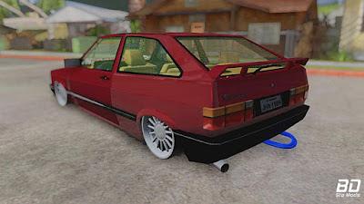 VW GOL GL TURBO para GTA San Andreas - Traseira