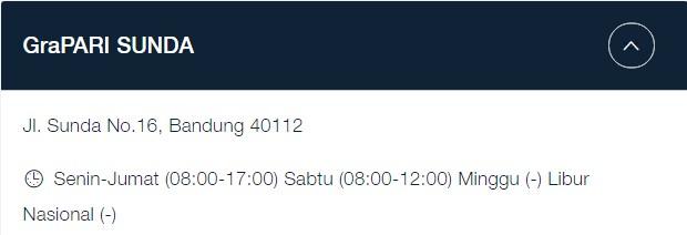 Alamat GraPARI Telkomsel Bandung: Jl. Sunda No.16