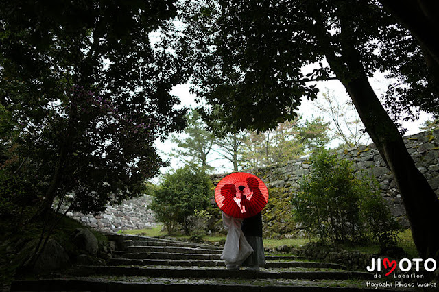 三重県伊賀市で地元前撮り撮影