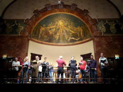John Butt & the Dunedin Consort in rehearsal at the Wigmore Hall (photo Dunedin Consort)
