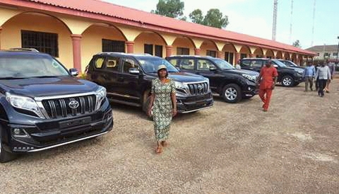 Image result for ebonyi governor gives cars to lawmakers