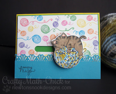 Newton Loves Yarn Spinner Card by Crafty Math Chick | Newton Unwinds stamp set by Newton's Nook Designs