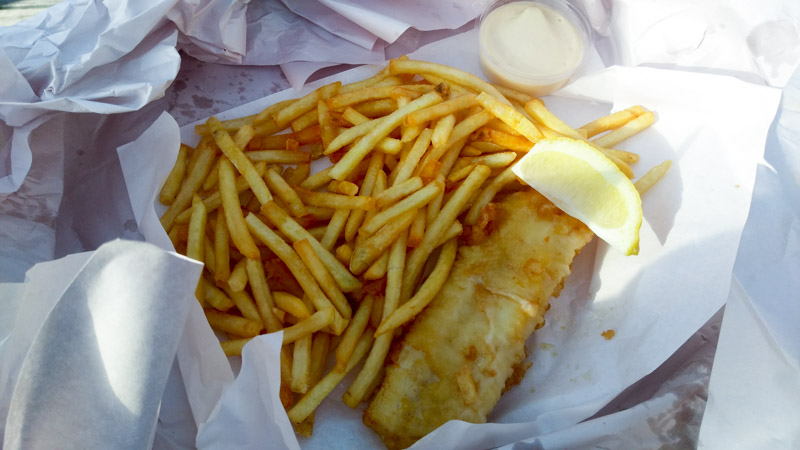 Leckere Fish and Chips in Neuseeland