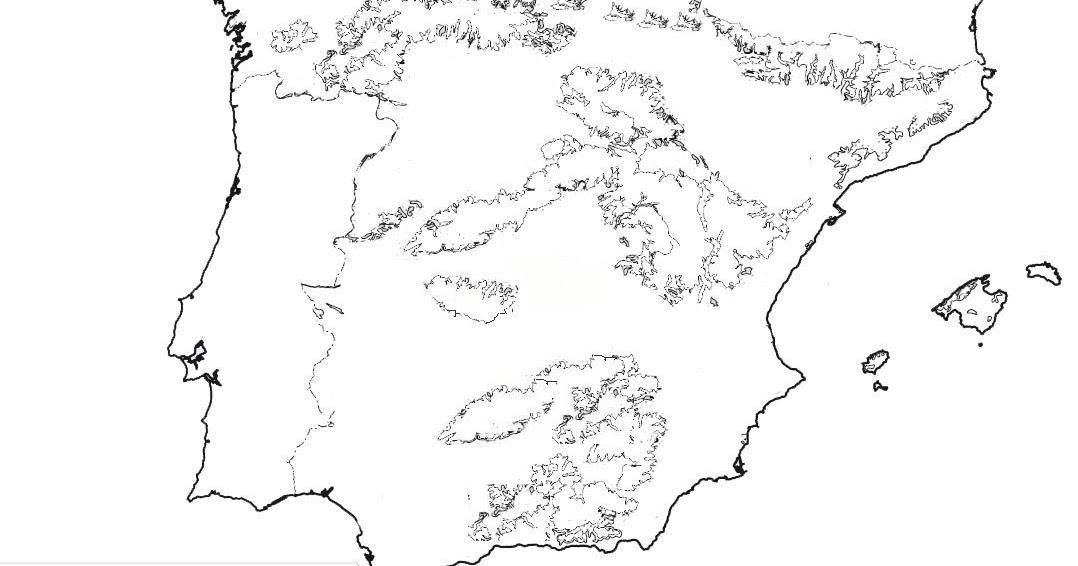 Mapa Fisic Espanya Mut.Aula 6e A Raco De Medi Social