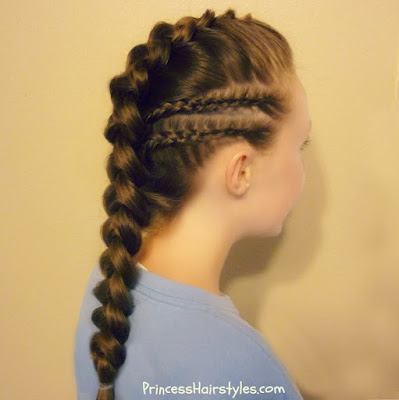 Braid Fawx Hawk With Cornrows Hairstyle Tutorial
