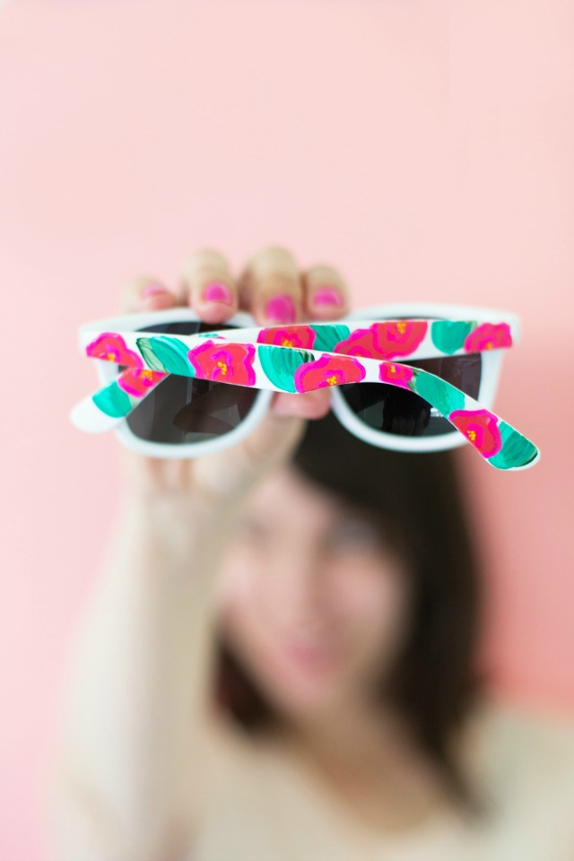 Elevate inexpensive sunglasses with craft paint!