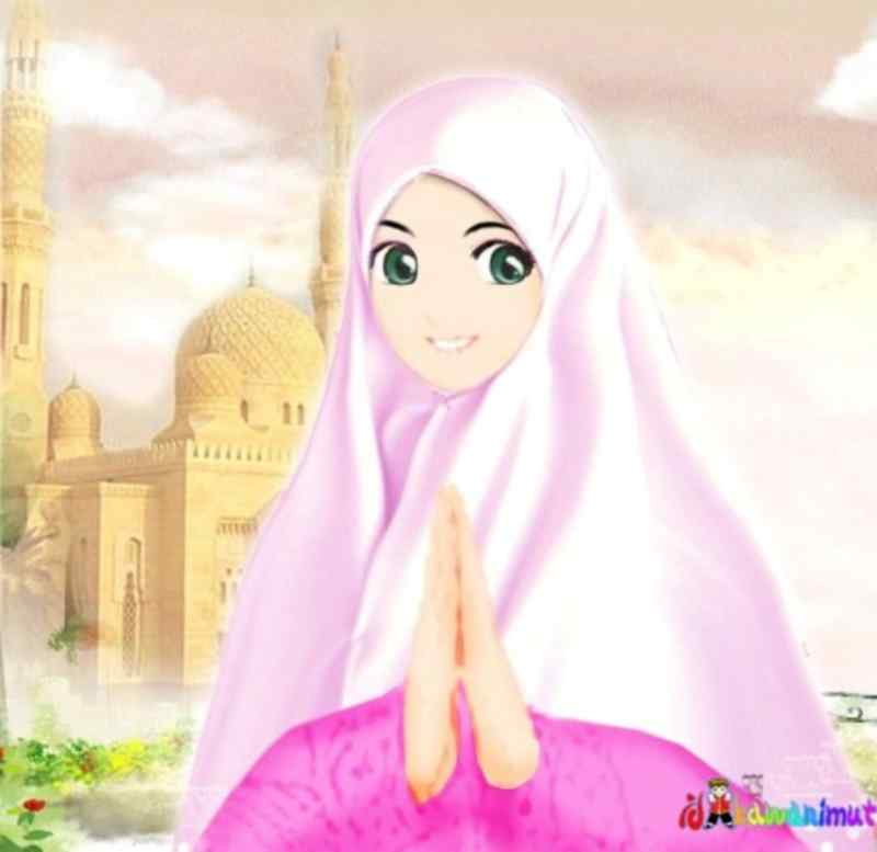 1010 Gambar Kartun Muslimah Berdoa Gratis