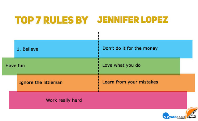 Jennifer Lopez rules for success, rules for success, top 7 rules for success