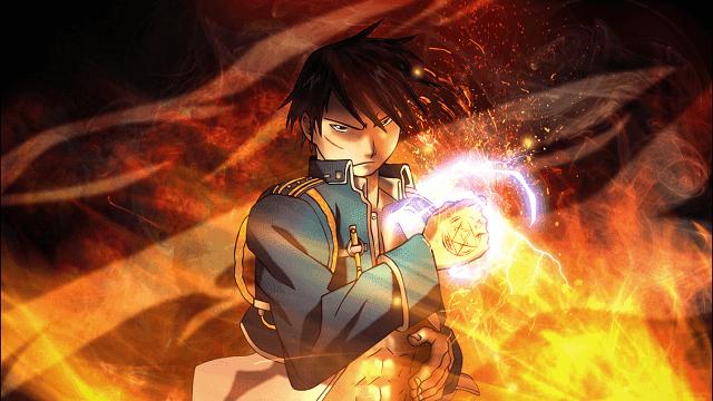Dengan memantikkan jarinya, Roy bisa membuat kobaran api yang besar