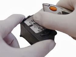 elimine la etiqueta del cartucho canon pg-510 y conserve la etiqueta