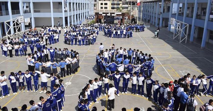 DRELM: Ocho millones y medio de estudiantes participarán en primer simulacro nacional escolar 2018 (Viernes 20 Abril) www.drelm.gob.pe