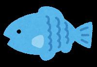 小魚のイラスト(水色)