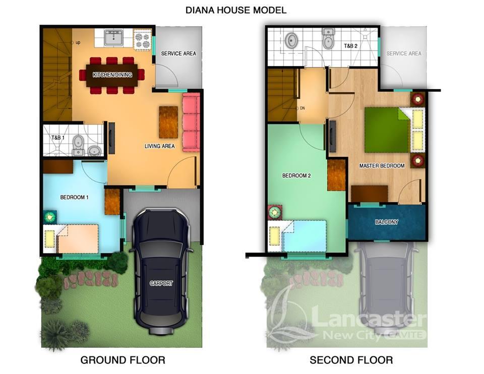แปลนบ้านทาวเฮ้าส์ 3 ชั้น และ 2 ชั้น เหมาะแก่การจัดสรรขาย