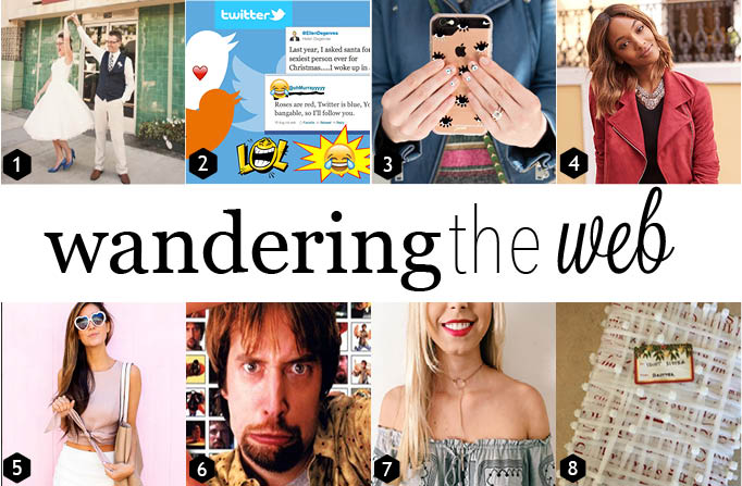 Unusual wedding themes, the most 90s problem ever, and a few pranks to play next week.