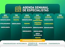 Agenda de especialidades ECON desta semana
