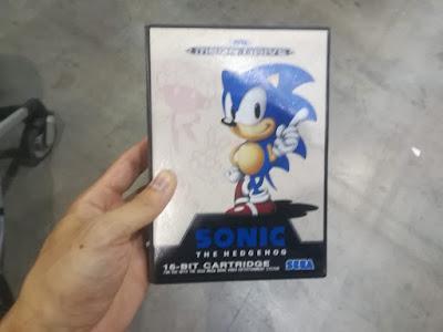 Sonic de MegaDrive obtenido en Gamepolis 2K18