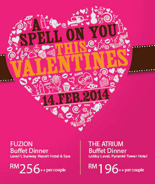 a spellbinding valentine at fuzion sunway resort spa malaysian foodie. Black Bedroom Furniture Sets. Home Design Ideas