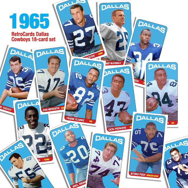 Topps, Dallas Cowboys, NFL design, Tallboys