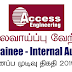 Vacancy In Access Engineering PLC  Post Of - Trainee - Internal Audit
