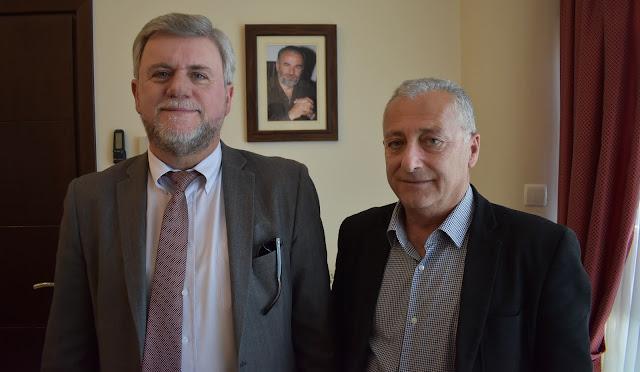 Συνάντηση του Υποψήφιου Δημάρχου Σουλίου Γιάννη Καραγιάννη με τον Πρόεδρο του Επιμελητηρίου Θεσπρωτίας κ. Αλέκο Πάσχο .