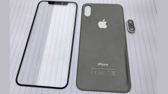 Front and back panel images of iPhone 8 leaked