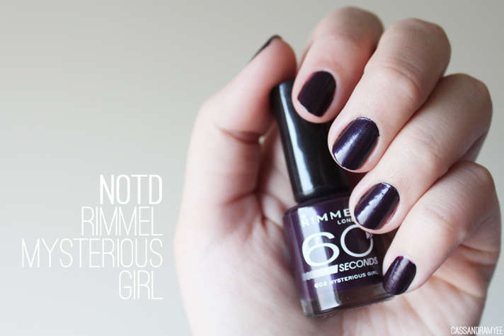 NOTD // Rimmel 60 Seconds in Mysterious Girl