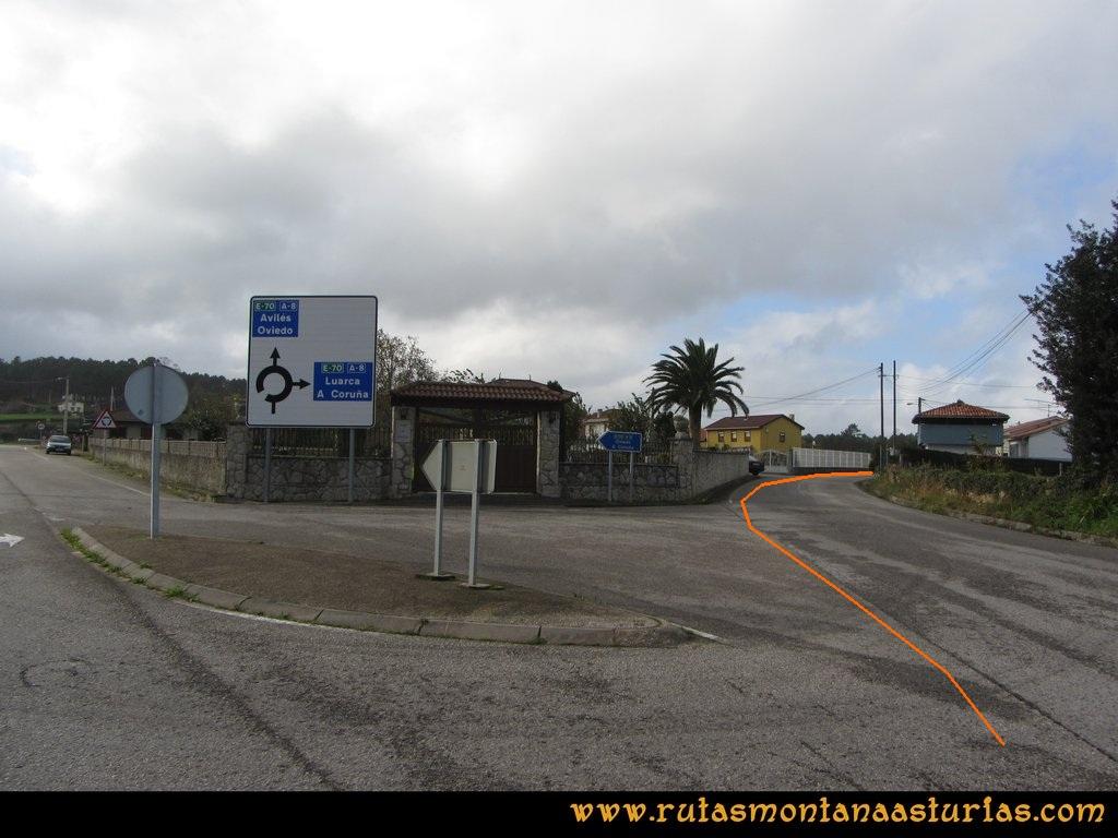 Ruta Artedo, Lamuño, Valsera: De Lamuño al área recreativa de Valsera