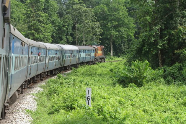 India's longest train Vivek Express chugs on