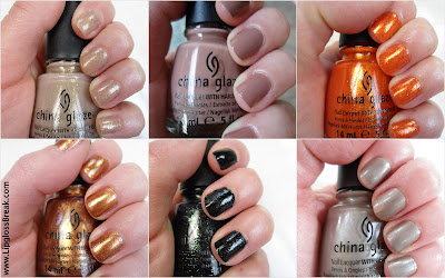 The Hunger Games China Glaze nail polish collection