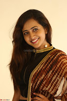 Lasya looks super cute in black choli Saree at Raja Meru Keka Press Meet ~  Exclusive 082.JPG