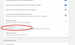 ادارة المحتوى على متصفح جوجل كروم