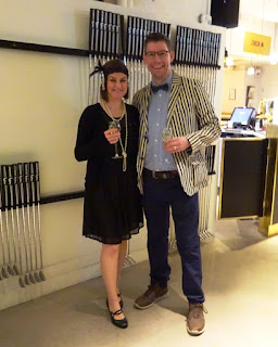 Minigolf explorers Emily and Richard Gottfried at the Swing by Golfbaren indoor minigolf course in Stockholm, Sweden