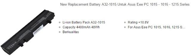 harga baterai laptop asus eee pc series