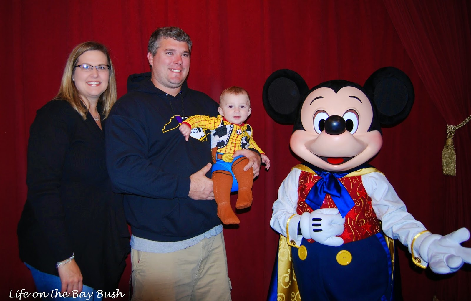 Meeting Mickey for the first time at the Magic Kingdom!