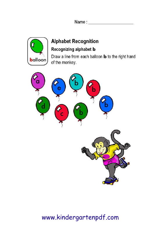 Free Nursery Worksheets: Alphabet Recognition Worksheets For Pre-K ...