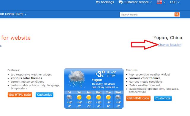 Cara Pasang Widget Cuaca Unik di Blog