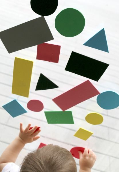 fun toddler activity exploring shapes