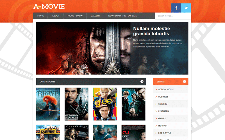 Movie Free Blogger Template