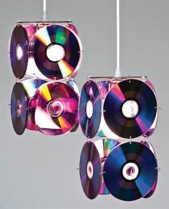 El mundo del reciclaje cd lamps - Manualidades con cd usados ...