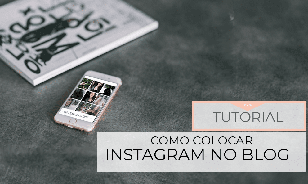 perfil do instagram no blog
