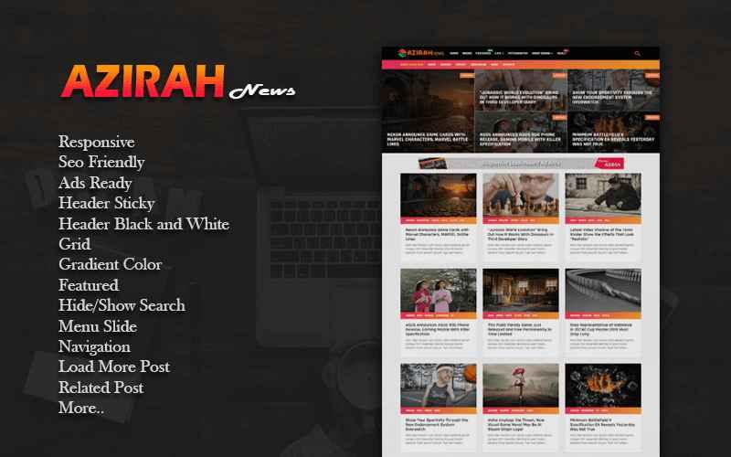 Azirah Responsive Blogger Template