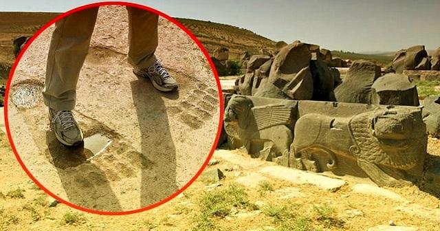 Τα γιγάντια αποτυπώματα του αρχαίου ναού των Ain Dara ειναι απομεινάρια των Anunnaki;