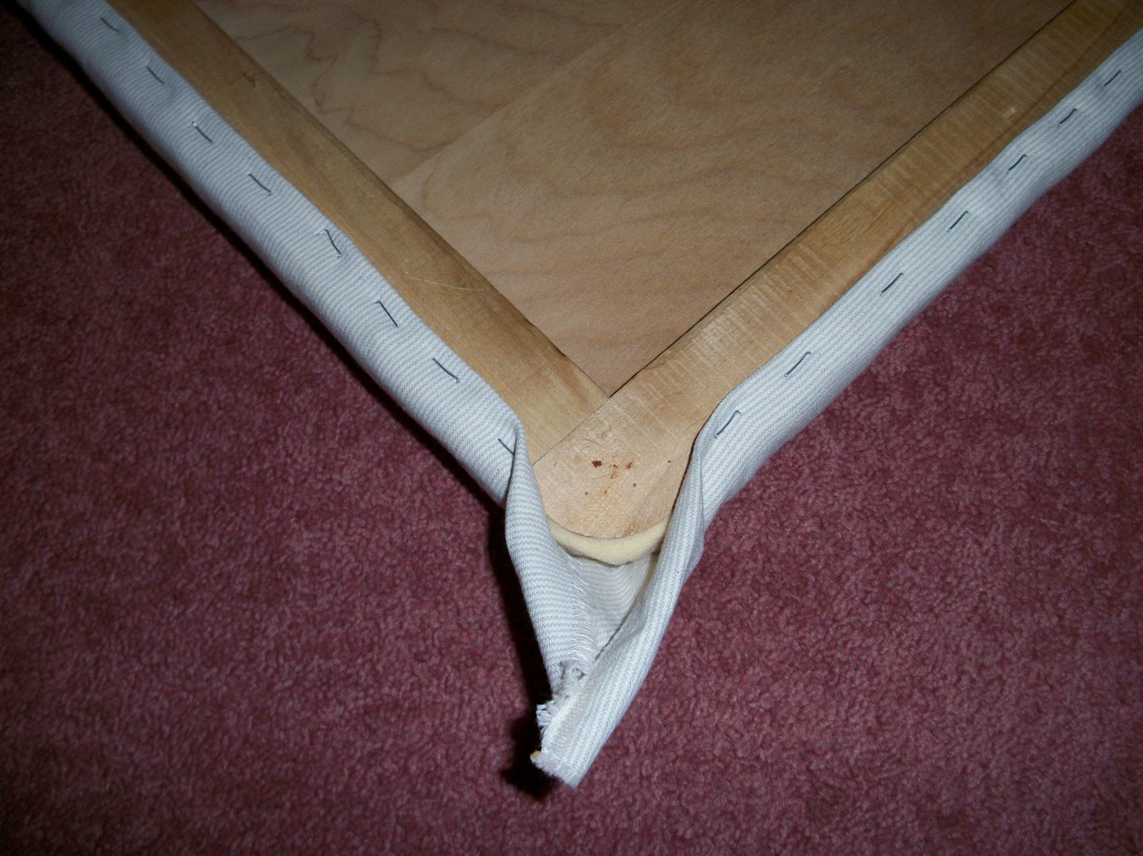 Staple Around The Piece You Are Upholstering But Leave An Inch Or Two On Both Sides Corner I Fold My Corners In At End