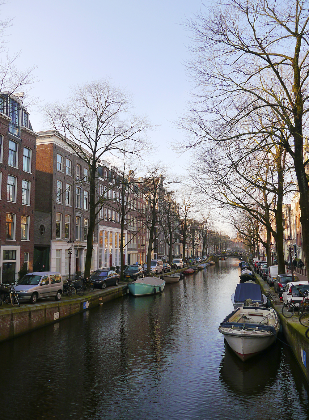 Mornin light on an Amsterdam canal