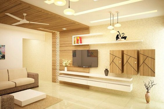 20 Trendy Ways To Incorporate Wall-mounted TVs & Shelves To Watch In ...