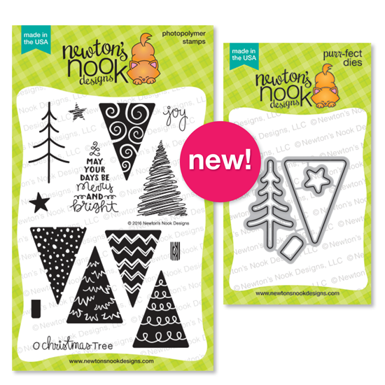 Festive Forest | Christmas Tree Stamp set by Newton's Nook Designs #newtonsnook
