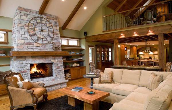 Salas r sticas con detalles modernos salas con estilo - Como decorar una habitacion rustica ...