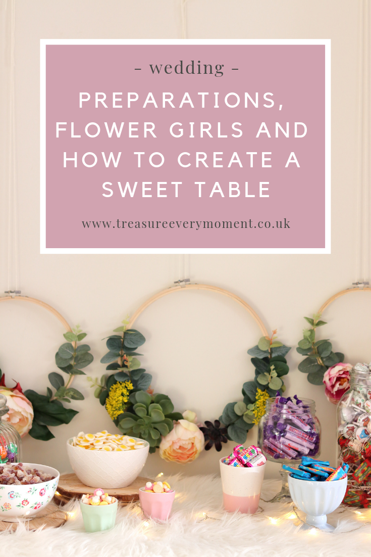 WEDDING: Preparations, Flower Girls and How to Create a Sweet Table